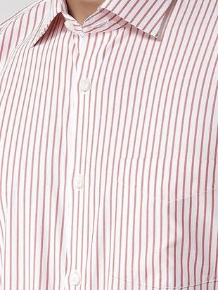 red striped formal shirt - 16238121 - Standard Image - 4