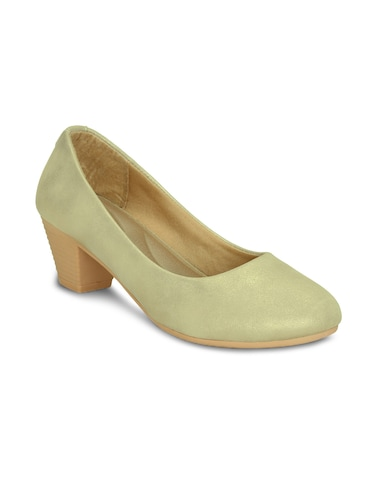 gold slip on pumps - 16239555 - Standard Image - 1