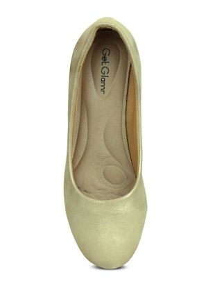 gold slip on pumps - 16239555 - Standard Image - 4