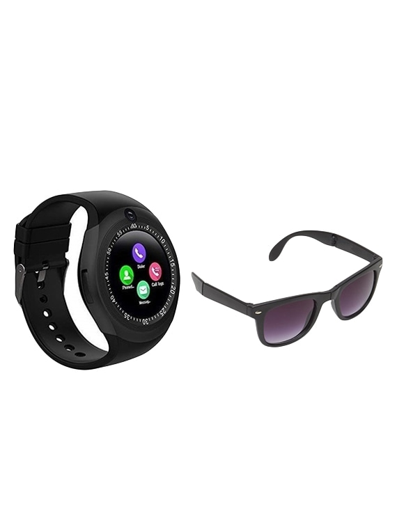 Zoom Star Y1S Smart Watch with camera and UV Protection Fold able Sunglasses
