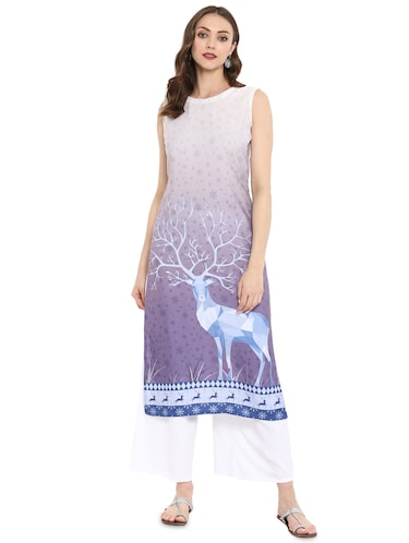 c132cde82af Buy Solid Straight Kurta for Women from Jompers for ₹411 at 41% off ...