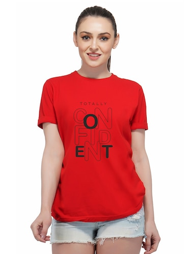 crew neck quirky text tee - 16249743 - Standard Image - 1