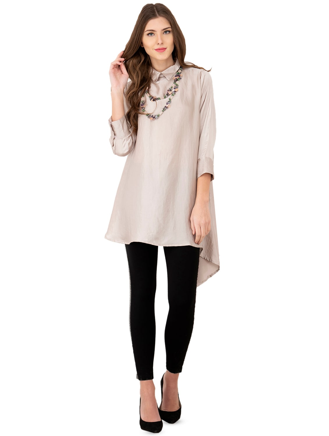 598f12fe059 Buy Solid Asymmetric Kurta for Women from Dehleez for ₹1250 at 50% off