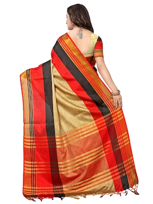 multi color saree combo (set of 2) with blouse - 16258799 - Standard Image - 4