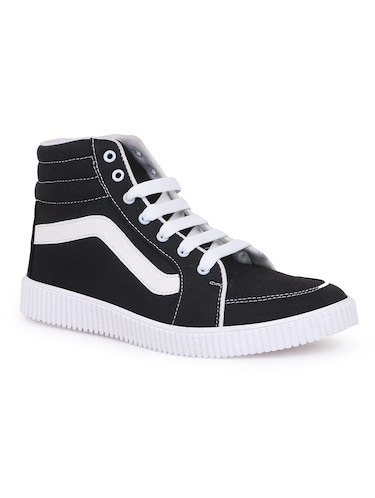 black canvas lace up sneakers - 16260770 - Standard Image - 1
