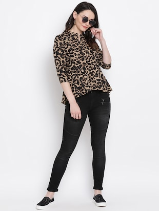 Animal prints asymmetric top - 16272439 - Standard Image - 4
