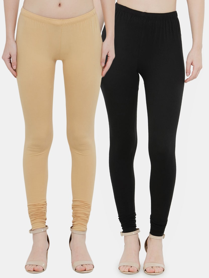 9cebc67c46 Buy Solid Churidar Legging Combo (set Of 2) for Women from N-gal for ₹1 at  100% off | 2019 Limeroad.com