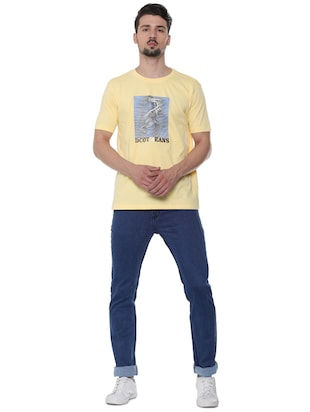 blue cotton plain jeans - 16293547 - Standard Image - 4