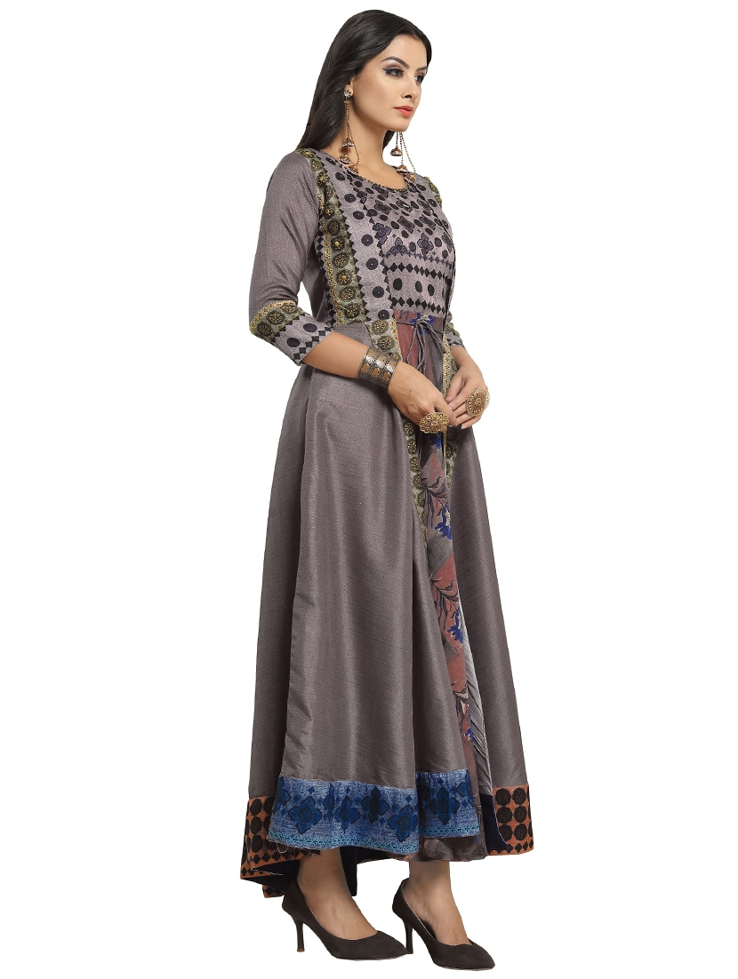 a6736d573e Buy Floral Printed Layered Gown for Women from Kvsfab for ₹2419 at 56% off  | 2019 Limeroad.com