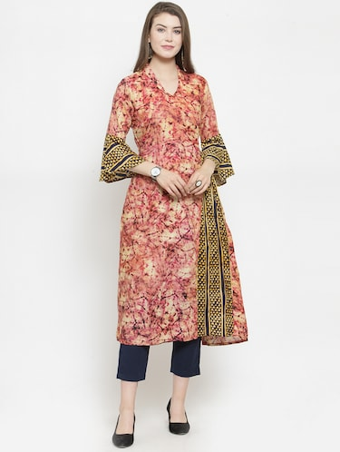 abstract printed kurta pant set - 16303595 - Standard Image - 1
