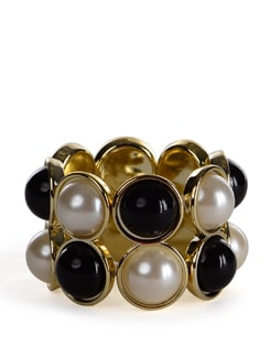 Black And White Pearl Bracelet - Addons