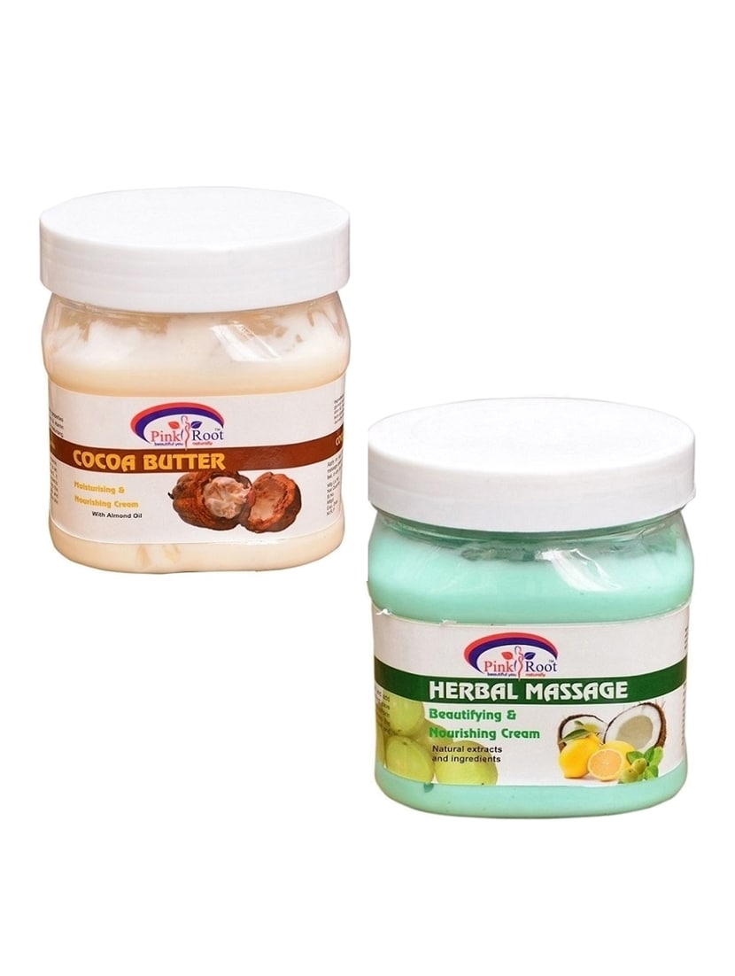 PINK ROOT COCOA CREAM 500GM WITH HERBAL CREAM 500GM