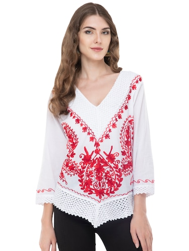 8b3be395a40 White tops - Buy White tops Online at Best Prices in India ...