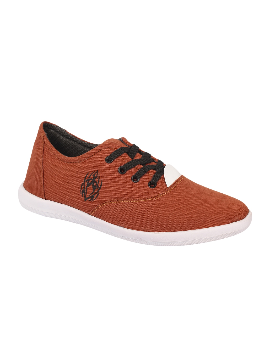 Brown Canvas Lace Up Sneakers