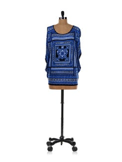 Trendy Blue Printed Top - AND