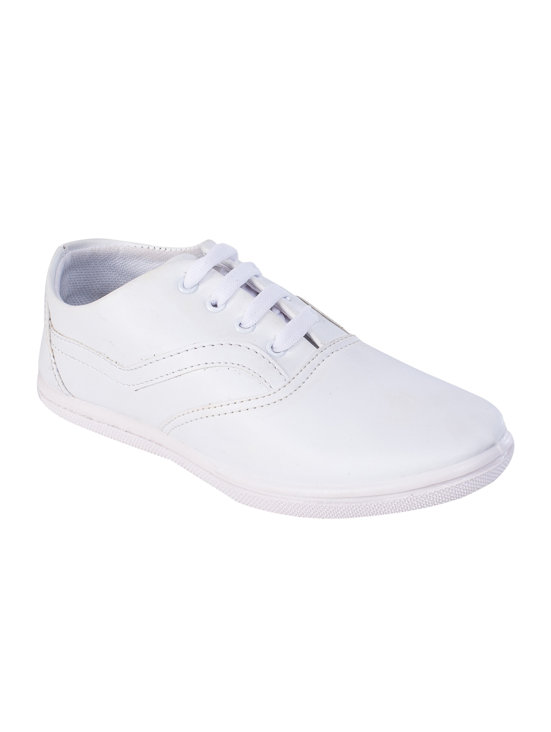 Buy online White Leatherette Lace Up