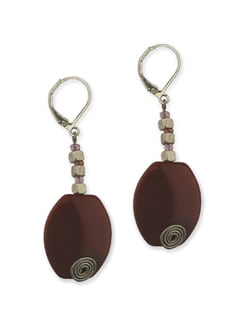 The Wine Red Earring - Eesha Zaveri; Jewellery By Design