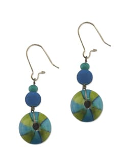 Blue And Green Ferris Wheel Earrings - Eesha Zaveri; Jewellery By Design