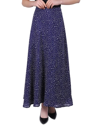Skirt Wrapover polycrepe With Cotton Wistband Purple