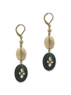 Deep Green Meenakari Semi Precious Stone Earring - Eesha Zaveri; Jewellery By Design
