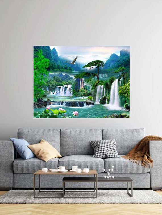 Buy Online Waterfall 3d Hd Digital Print Wallpaper From Wall Decor For Unisex By Walldeco For 530 At 47 Off 2021 Limeroad Com