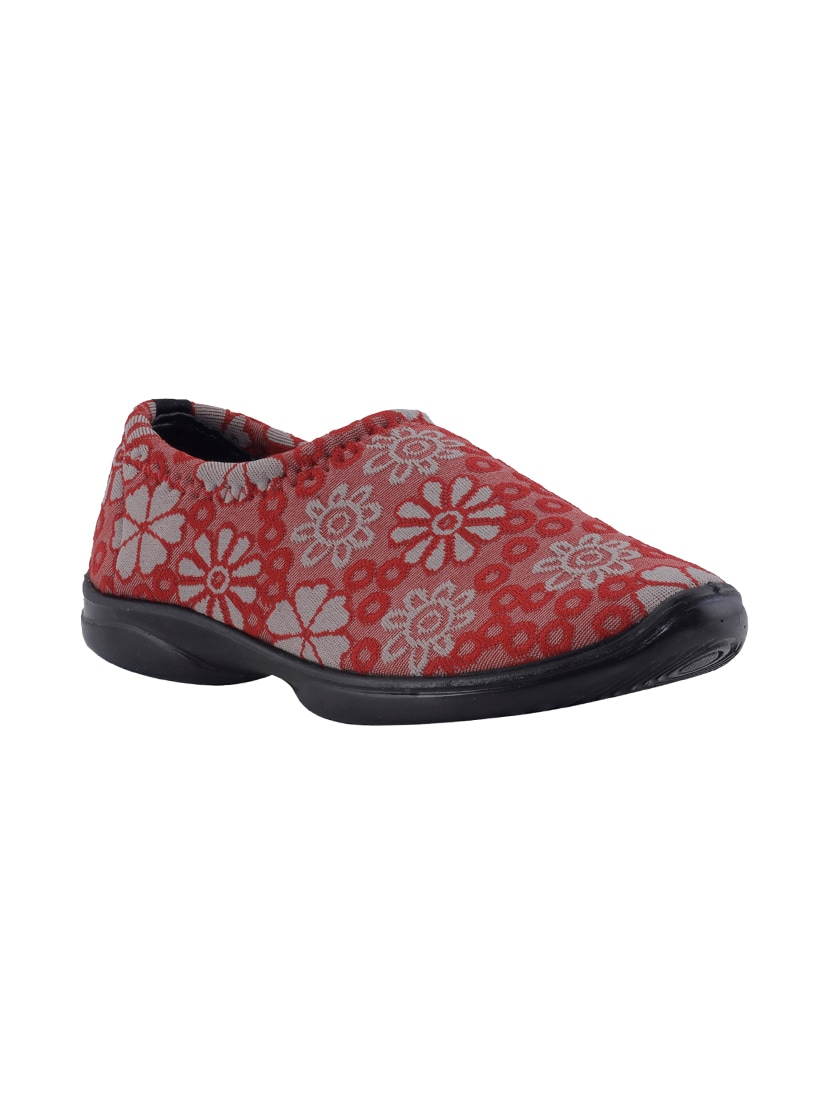 Red Slip On Casual Shoes from footwear