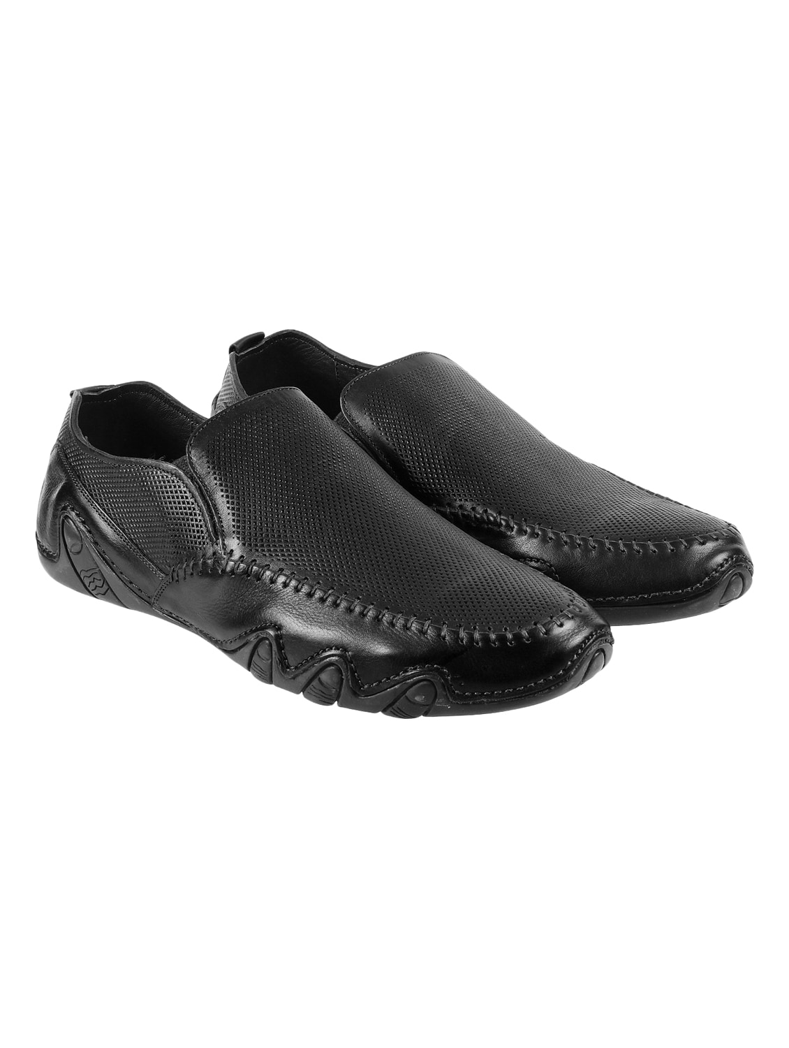 Black Slip On Loafers from Casual Shoes