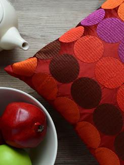 Embroidered Polka Dot Cushion Cover - AMOROSA