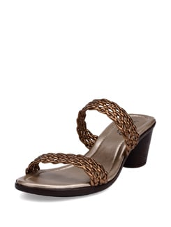Double Strapped Gold Sandals - La Briza