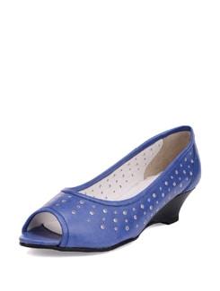Blue Cutwork Ballerinas - La Briza