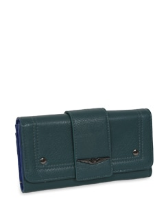 Two Toned Blue Wallet - Lino Perros