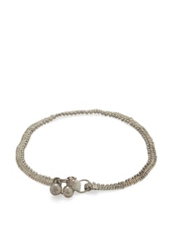 Delicate Pair Of Silver Anklets - Art Mannia