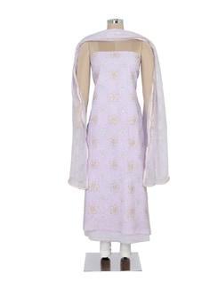 Lavender Hued Suit Piece Set - Ada
