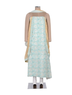 Multi Hued Embroidered Suit Piece Set - Ada