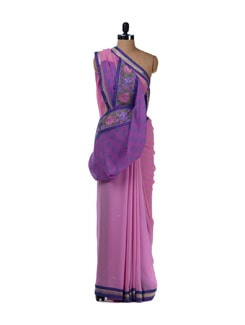 Pretty In Pink Saree - Aas
