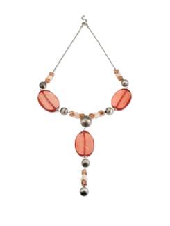 Peach Beaded Necklace - Accessory Bug