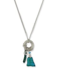 Silver Chain Charm Necklace - THE PARI