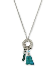 Silver Chain Charm Necklace - THE PARI