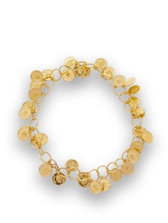 Gold Coin Charm Bracelet - THE PARI