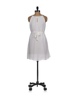 Embellished Ivory White Sundress - Tops And Tunics
