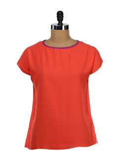 Feminine Orange Top - NUN