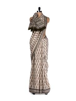 Traditional Prints- Cotton Saree - Nanni Creations