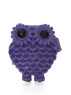 Purple Owl Shaped Ring - ALESSIA