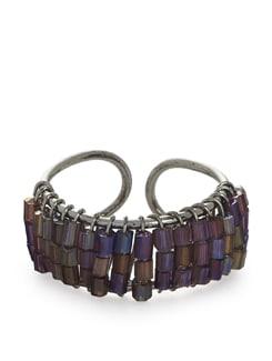 Purple Beaded Ring - ALESSIA