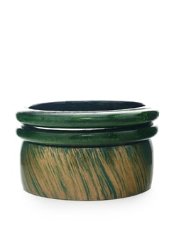 Green Wooden Bangle Set - ALESSIA