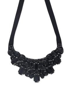Chunky Black Stone Necklace - Miss Chase