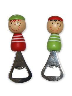 Colourful Bottle Openers - Set Of 2 (red & Green) - Vividha