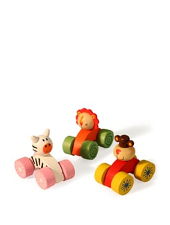 Multicoloured Push And Pull Toys - Vividha
