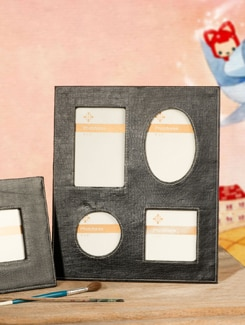 Black Leather And Suede Photo Frame - TREASURE  HUNT