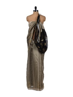 Gold Tone Silk Saree - Story Of Weaves